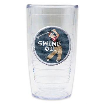 Swing Oil Needlepoint Tumbler by Smathers & Branson