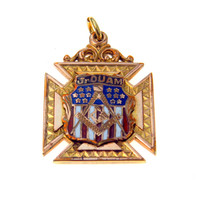 Patriotic Junior Order of United American Mechanics Watch Chain Fob