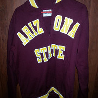 Vintage 70s Retro Arizona State Medalist Sand-Knit Light Pull Over Jacket - Made in USA- Size 44