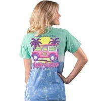 Sunshine State of Mind - Jeep - Tie Dye - SS - Adult T-Shirt