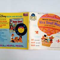 Vintage It's A Small World Disneyland Record Book