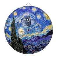 A Starry Night Time Travel Dart Board