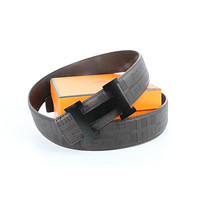 Hermes belt men's and women's casual casual style H letter fashion belt456