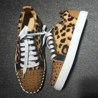 DCCK Cl Christian Louboutin Low Style #2041 Sneakers Fashion Shoes