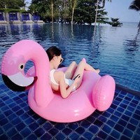 Air Mattress Water Gigantic Pink Flamingo Pool Inflatable Floats Pool Toys Swimming Float Adult Floats Inflatable 150cm