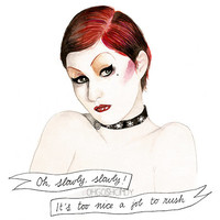 Columbia from the Rocky Horror Picture Show Nell Campbell PRINT