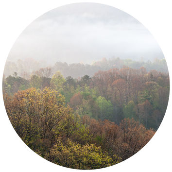 Paul Moore's Misty Mornings Circle wall decal