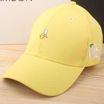Banana Embroidered Baseball Cap Hat Gift