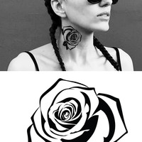 Rose Temporary Tattoo. Pack of 2