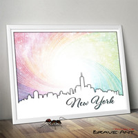 New York City Skyline - NYC Home Design - NY Art Printables - New York - Poster Art - Printable art - Instant Download