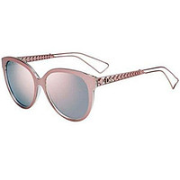 New Christian Dior DIORAMA 2/S TGW/OJ pink crystal/gray rose mirror Sunglasses