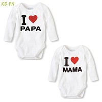 2pcs New Born Baby Clothes Long Sleeve Cotton Baby Rompers twins Baby Boy Girl Clothes roupas de bebe Infantil pajamas body bebe
