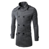 Winter Overcoat Long Men's Trench Coat