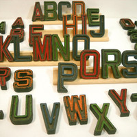 Vintage Letters Small Plastic ABCs and Numbers Black Letter YOU PICK