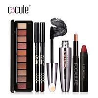 Cocute Makeup Tool Kit 4 PCS Cosmetics Including Eyeshadow Lipstick Volume Cruling Mascara and Eyeshadow Pen Makeup Set for Gift