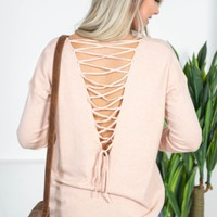 Lace-Up Janie Sweater Top | Colors