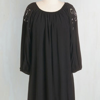 Boho Mid-length Long Sleeve, 3 Shift Where to Flow from Here Dress