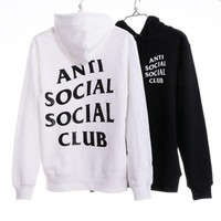 """Anti Social Social Club"" Cotton Fashion Hoodies [9321334983] I"