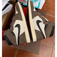 Travis Scott X Air Jordan 1 High Barb Casual Sports Running Shoes