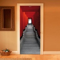 Style your door trompe-l'oeil Japanese stairs by Couture Deco