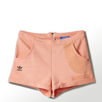 Adidas Woman Pink Pigeon Embroidery Sports Leisure Shorts