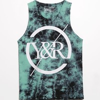 Young & Reckless Trade Circle Tie Dye Tank Top - Mens Tee - Green