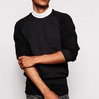 Reclaimed Vintage | Reclaimed Vintage Roll Neck Sweatshirt With Double Layer at ASOS
