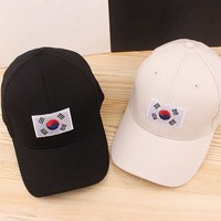 Trendy Winter Jacket 2017 fashion golf boys korean flag hat Cotton baseball cap Snapback  hip hop women casquette Casual Gorras  sport hat AT_92_12