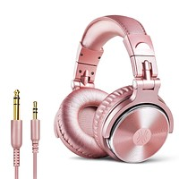 OneOdio Over Ear Headphones for Women and Girls, Wired Bass Stereo Sound Headsets with Share Port, 50mm Driver Rose Gold Headsets with Mic for PC, Phone, Laptop, Guitar, Piano, Mp3/4, Tablet (Pink) Pink