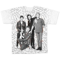 One Direction All-Over Band White T-Shirt - Medium