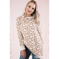Laval Loose Fit Leopard Sweater, Taupe Multi