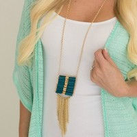 Nearly Native Tribal Necklace - Dark Turquoise