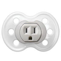 Electrical Power Outlet Plug in Baby Pacifiers from Zazzle.com