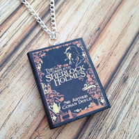 Sherlock Holmes complete collection book necklace/keychain