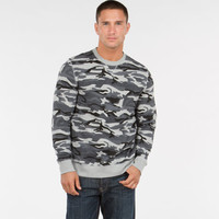 Camo Crew Neck - Hoodies + Sweatshirts - Shop By Category - Mens