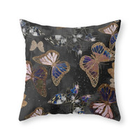 Society6 Cosmic Butterfli Throw Pillow