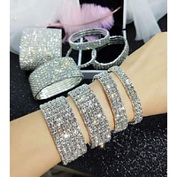 Fashion bracelet full of diamonds all-match temperament bracelet female Korean version of simple personality trendy bracelet jewelry