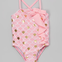 Pink Foil Mermaid One-Piece - Infant