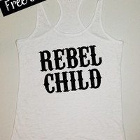 ReBeL CHiLD. Southern Girl Tank. Country Tank Top. Southern Tank. Country Shirt. Fitness Tank. Southern Clothing. Free USA Shipping