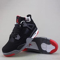 Air Jordan 4 Retro Women Men Fashion Casual Sneakers Sport Shoes-3