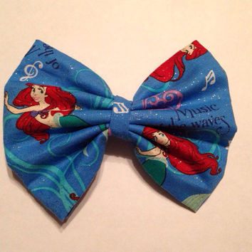 Little Mermaid Music of the Waves Hair Bow by HatsForWatson