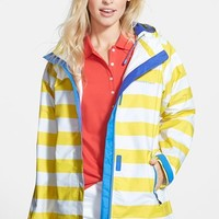 Women's Vineyard Vines 'Stow & Go' Stripe Hooded Raincoat