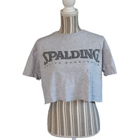 Vintage Crop Top Half Shirt, Spalding Active Sportswear, 90s Cropped Tee, Sporty, Tshirts, Athletic T-Shirts, Small, Hip Hop, Hipster