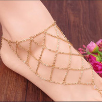 Exaggerate Hyperbole Mesh Anklet