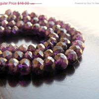 51% OFF Amethyst Rondelle Gemstone Purple Amethyst Faceted 5mm 45 beads 1/2 strand