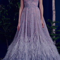 The Lavender Ostrich Fairy Gown | Moda Operandi