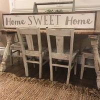 Home Sweet Home Sign - Grey