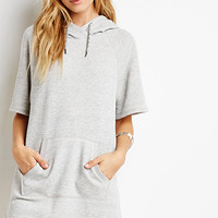 French Terry Hooded Dress