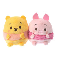Disney Store Japan Winnie the Pooh & Piglet Ufufy Mini Plush Set New with Tags