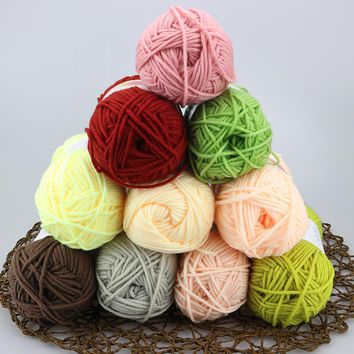 500g 10 Skeins Baby Milk Cotton Thick Thread Crochet Yarn Hand Knitting Multicolor Eco-Friendly Dyed Handmade Blanket Doll Yarn